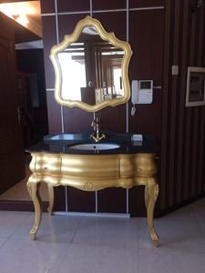 روشویی کابینت دار لاکچری ورق طلا  HomeBase وارداتی |